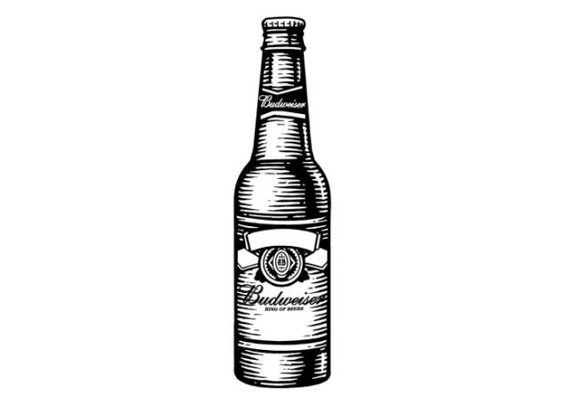 Steven Noble Illustrations: Budweiser Beer Bottle
