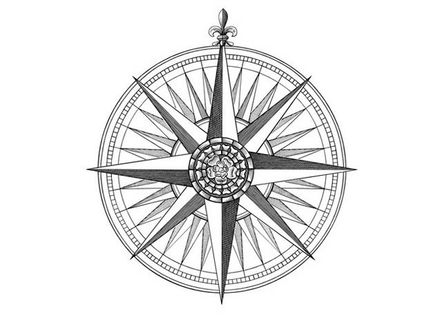 Steven Noble Illustrations: Compass Rose