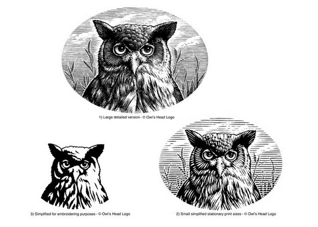 Owls Head Logo versions