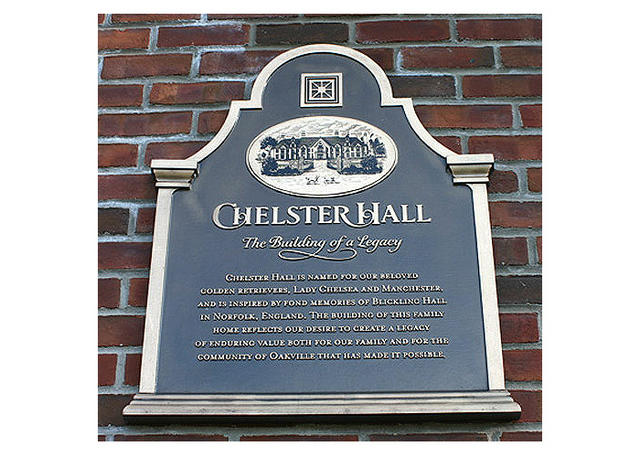 Chelster Hall Plaque