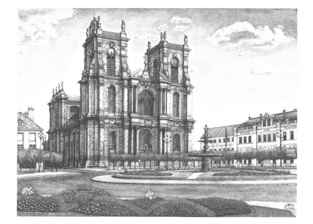 Cathedral stipple