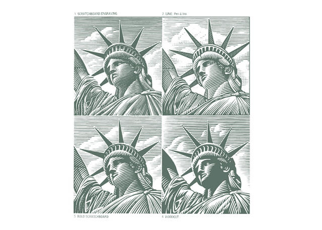 Statue of Liberty versions