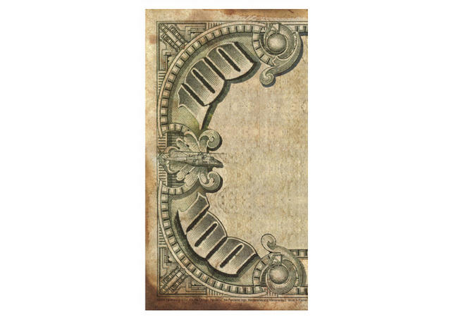 Decorative currency border