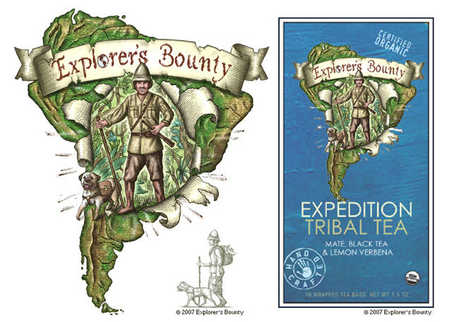 Explorer's Bounty Tea Packaging