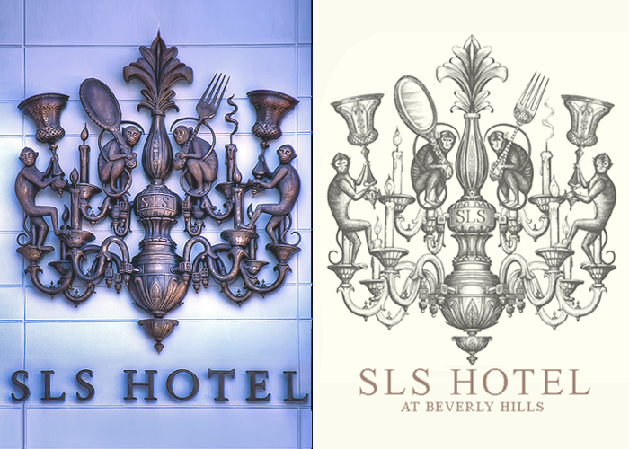 SLS Hotels logo versions