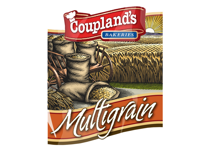 Coupland's bakeries packaging