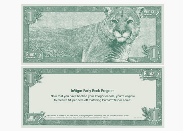 Puma Currency Engravings